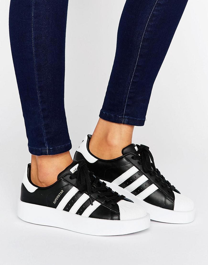 Lyst Adidas Originals Originals Bold Double Sole Black And White