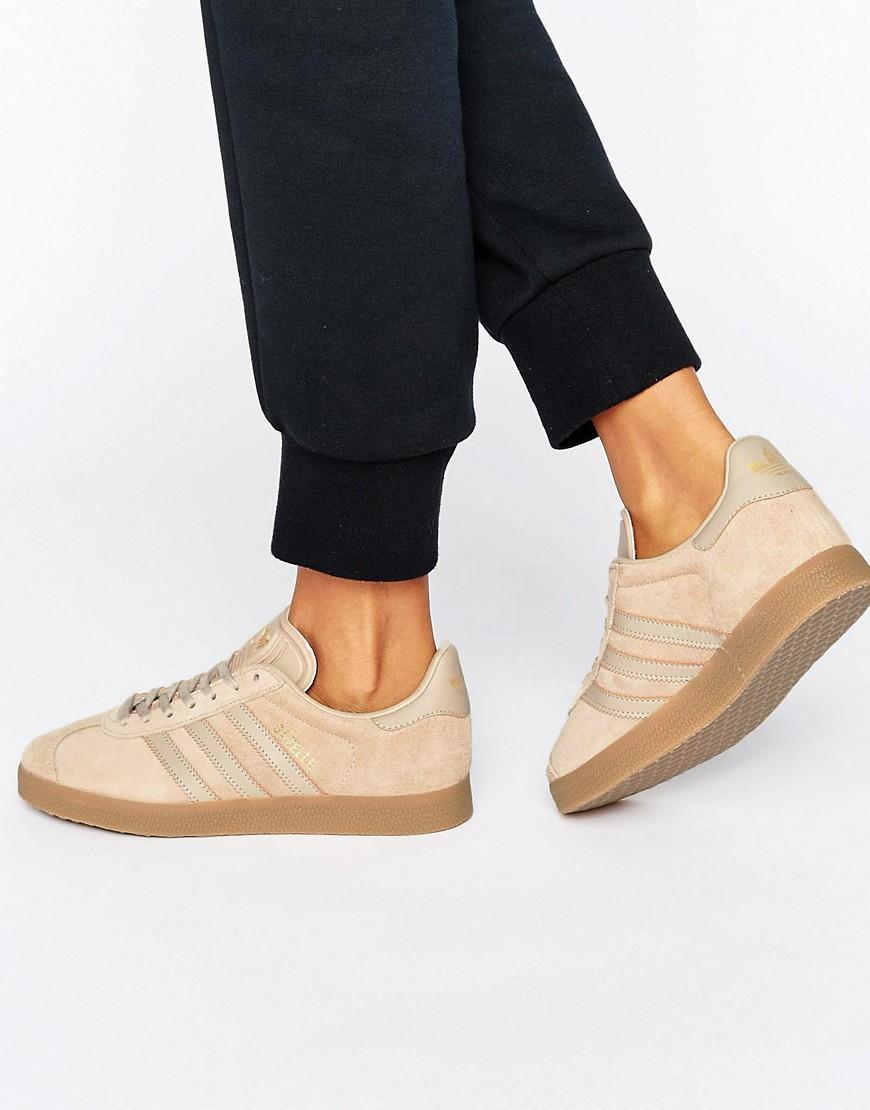 Originals Beige Gazelle Sneakers With Gum Sole