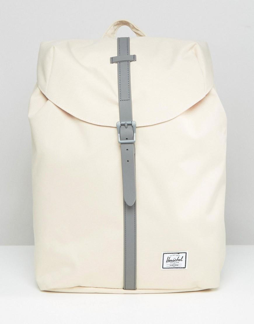 lyst herschel supply co exclusive post mid volume backpack in natural. Black Bedroom Furniture Sets. Home Design Ideas