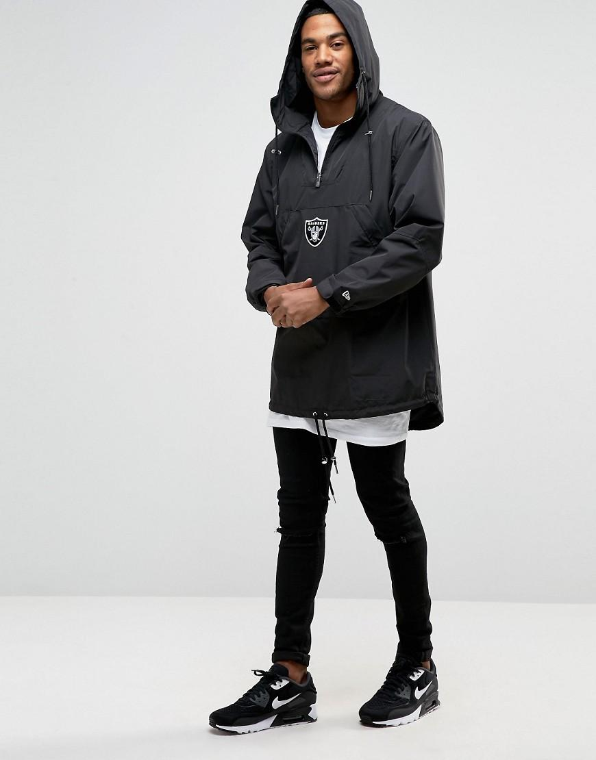 KTZ Synthetic Raiders Poncho Overhead Jacket in Black for Men