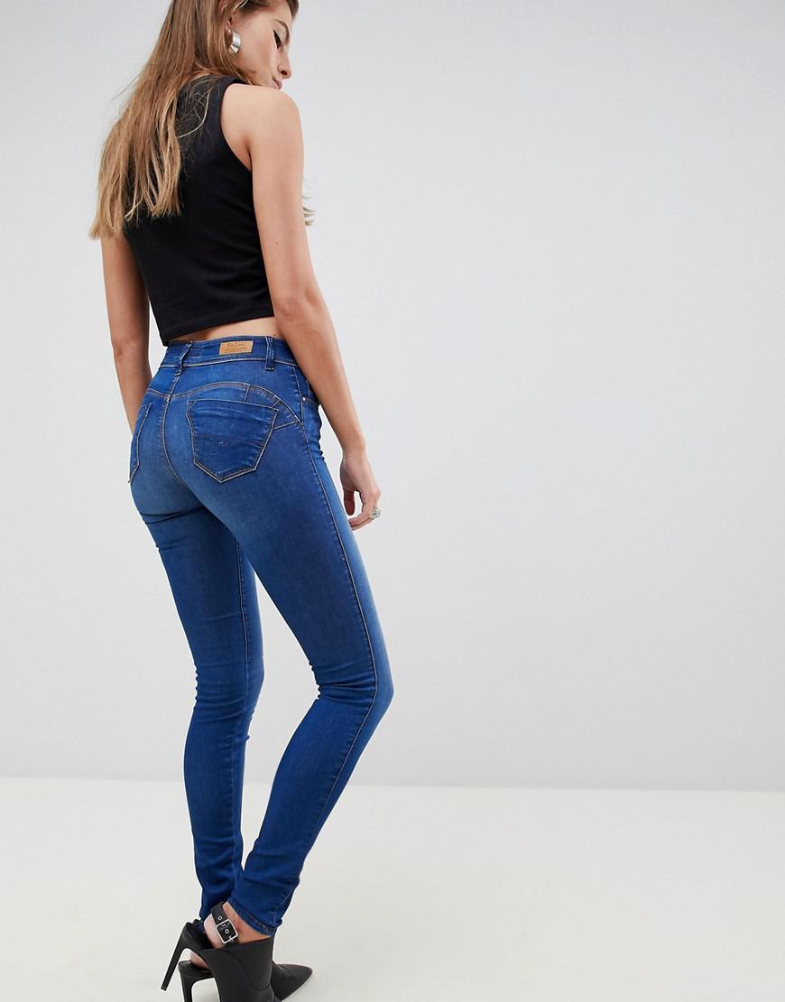 Mid Rise Women's Up Skinny Jean Blue Wonder Push hsQdCxrt