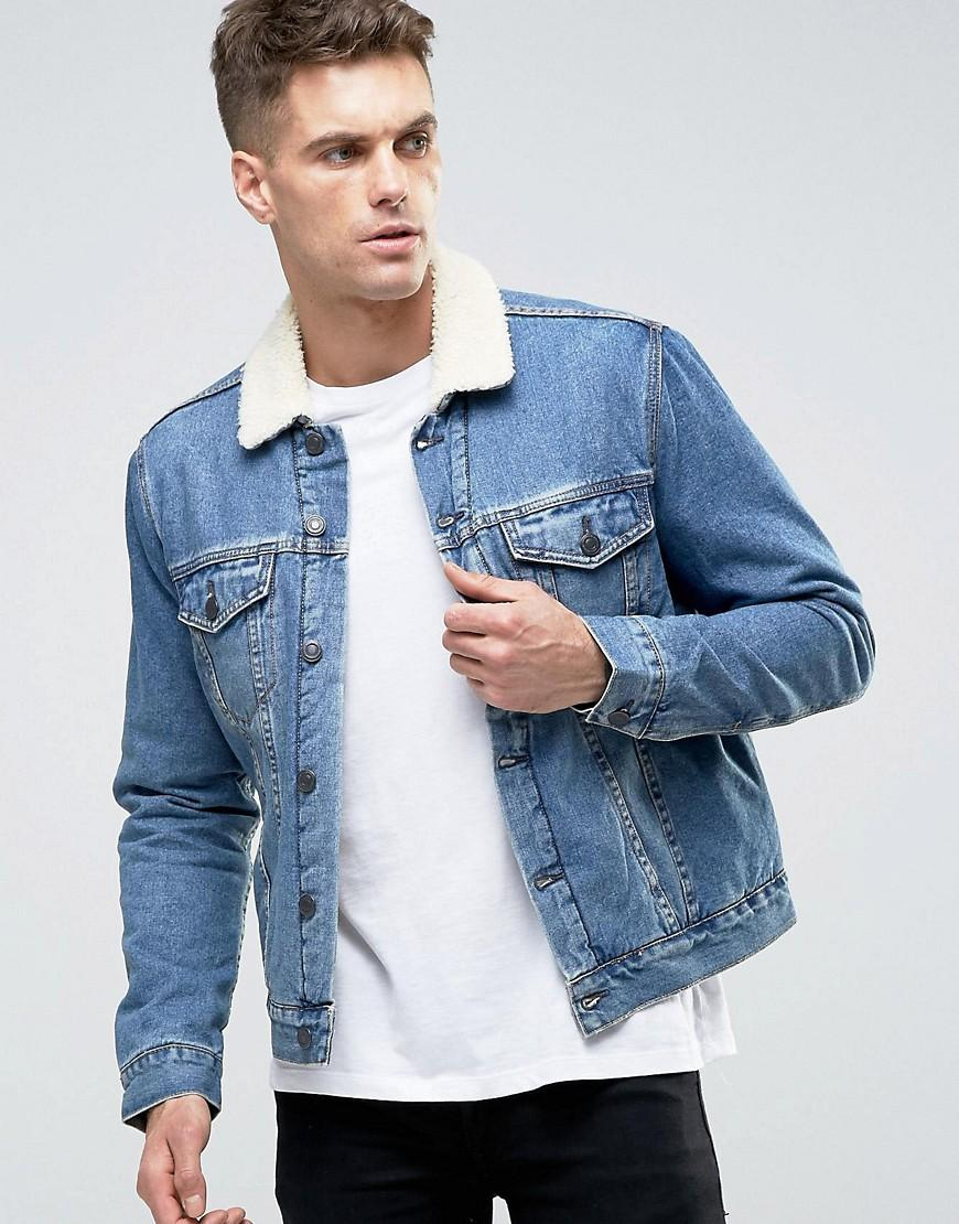 Denim jacket by New Look, Perfect for unpredictable weather conditions, Y know, freezing in the morning, sweating by lunchtime, Spread collar, Button placket, Longline style, Relaxed fit.