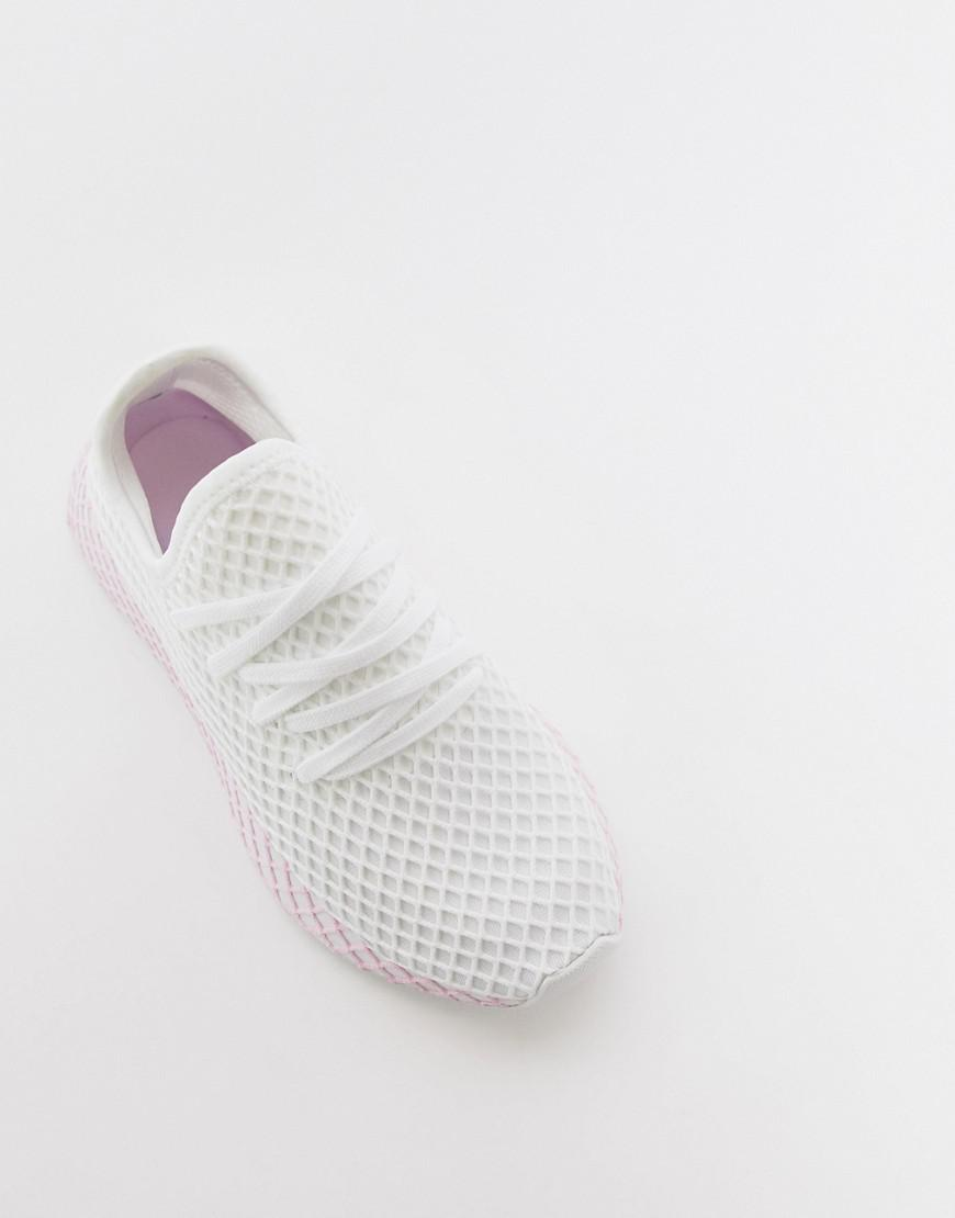 33cffe4e7d78c Lyst - adidas Originals Deerupt Sneakers In White And Lilac in White