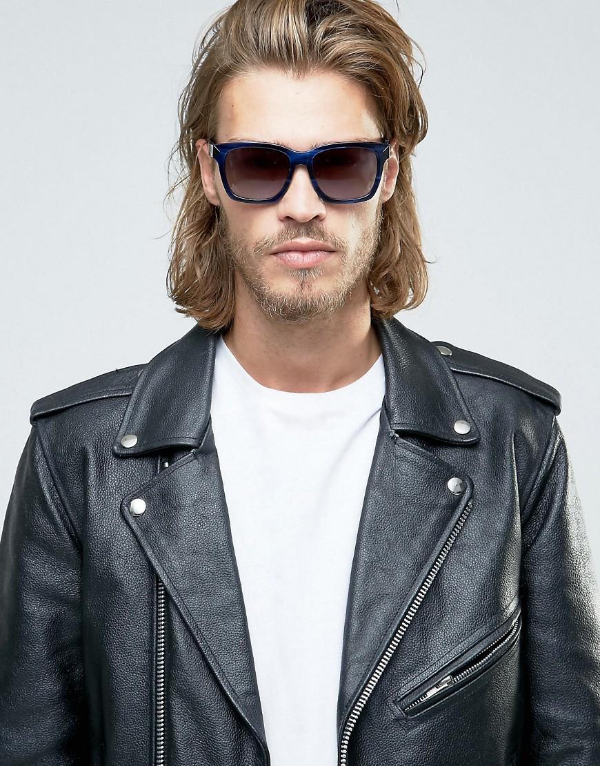 Karl Lagerfeld Square Sunglasses Blue Marble for Men