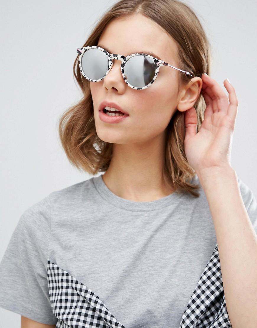 90s Metal Round Sunglasses In Rose Gold Flash - Rose gold Asos nSmu0FQq