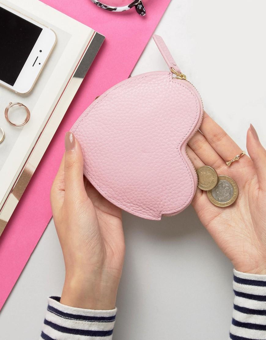Lulu guinness Heart Coin Purse in Pink