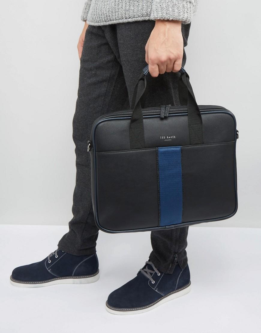 c5a163e9c07 Ted Baker Document Bag Webbing in Black for Men - Lyst