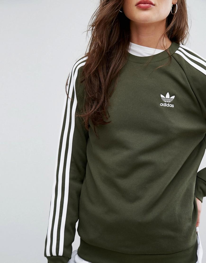 Stripe Originals Lyst Boyfriend Adidas Khaki Three YO76Z