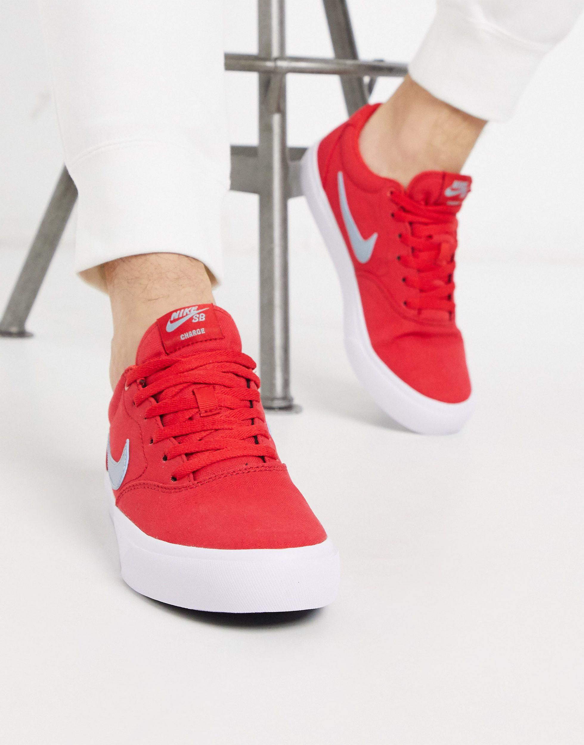 Nike Canvas Charge Cnvs Sb Shoes - Size 8.5 in Red for Men - Lyst