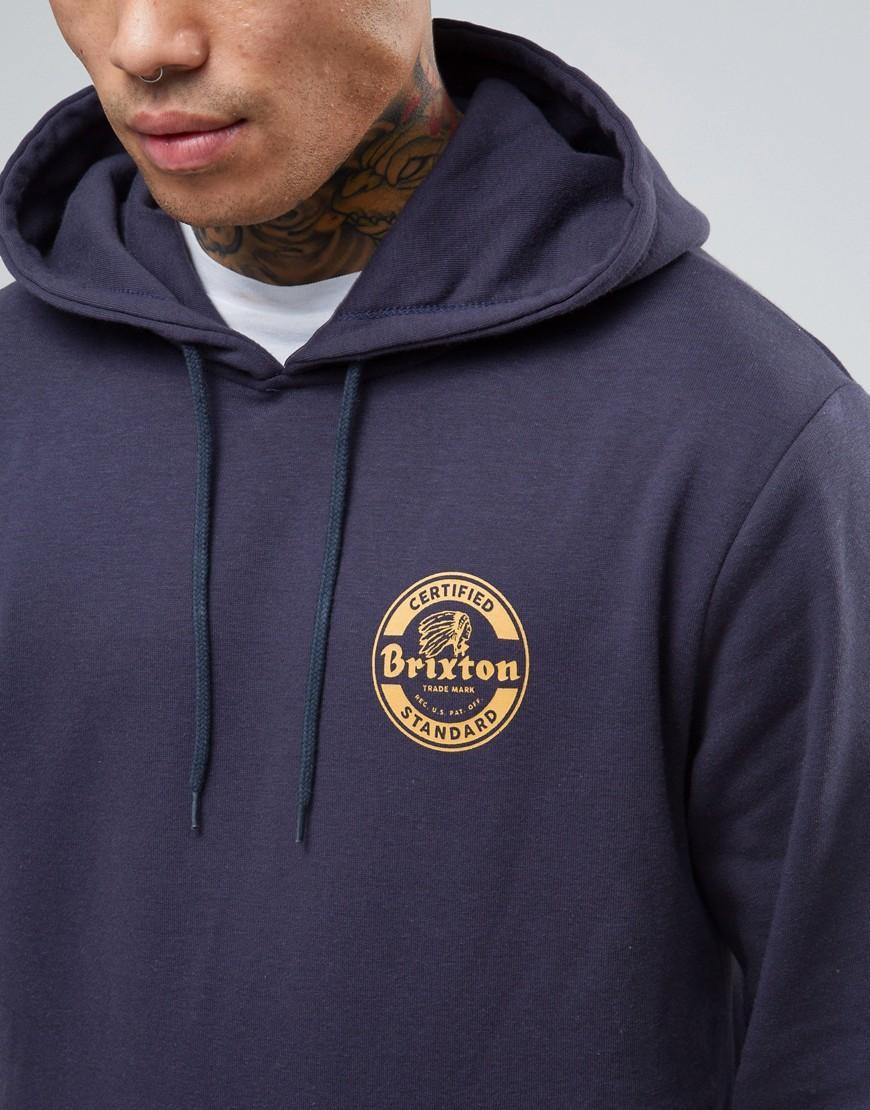 Navy Brixton Wheeler International Hoody