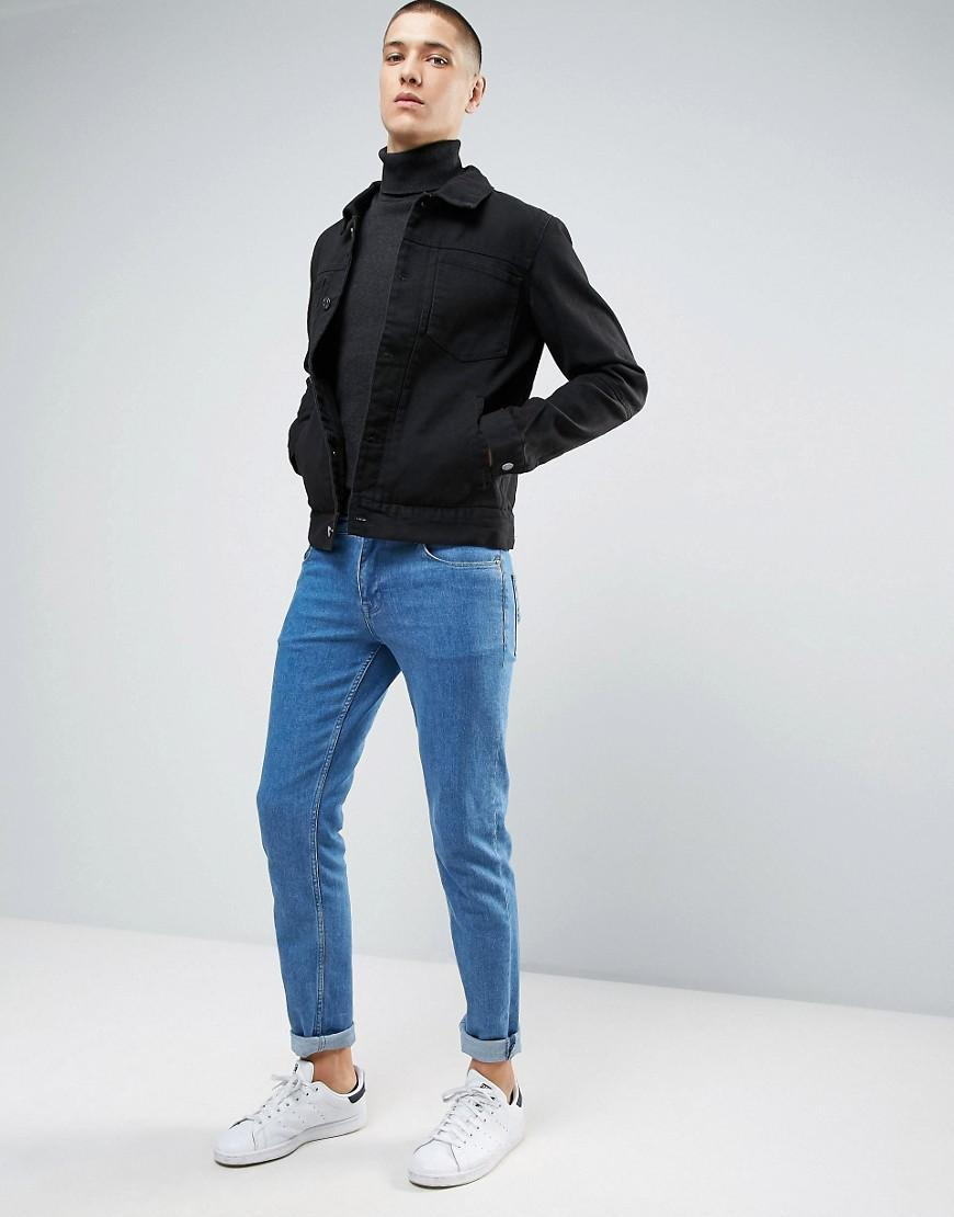 Casual friday denim jacket with double patch pockets in for Black friday dress shirts