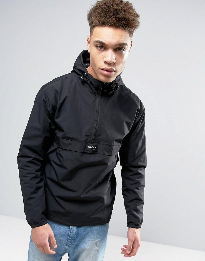 nicce london overhead jacket in black in black for men lyst. Black Bedroom Furniture Sets. Home Design Ideas