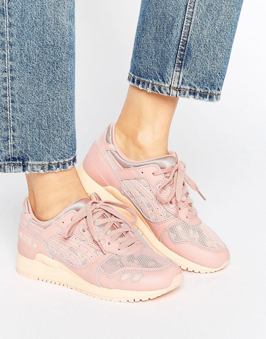 asics gel lyte iii sneakers in pink lyst. Black Bedroom Furniture Sets. Home Design Ideas