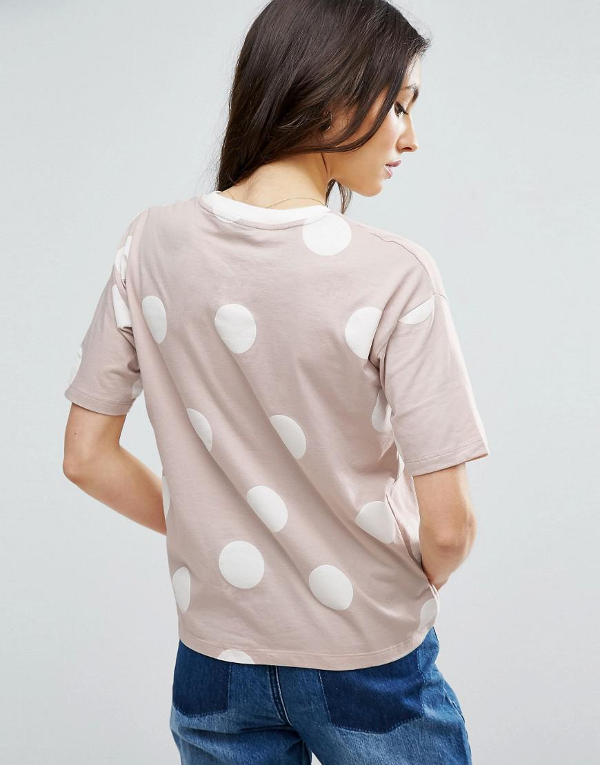 ASOS Cotton Top In Spot Print With Contrast Binding