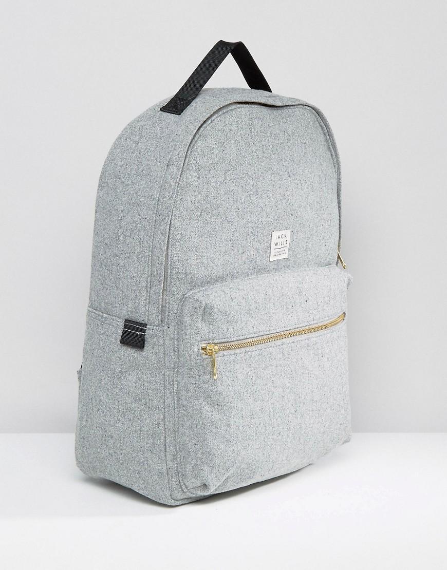 Jack Wills Broomsgrove Classic Backpack Pale Grey In