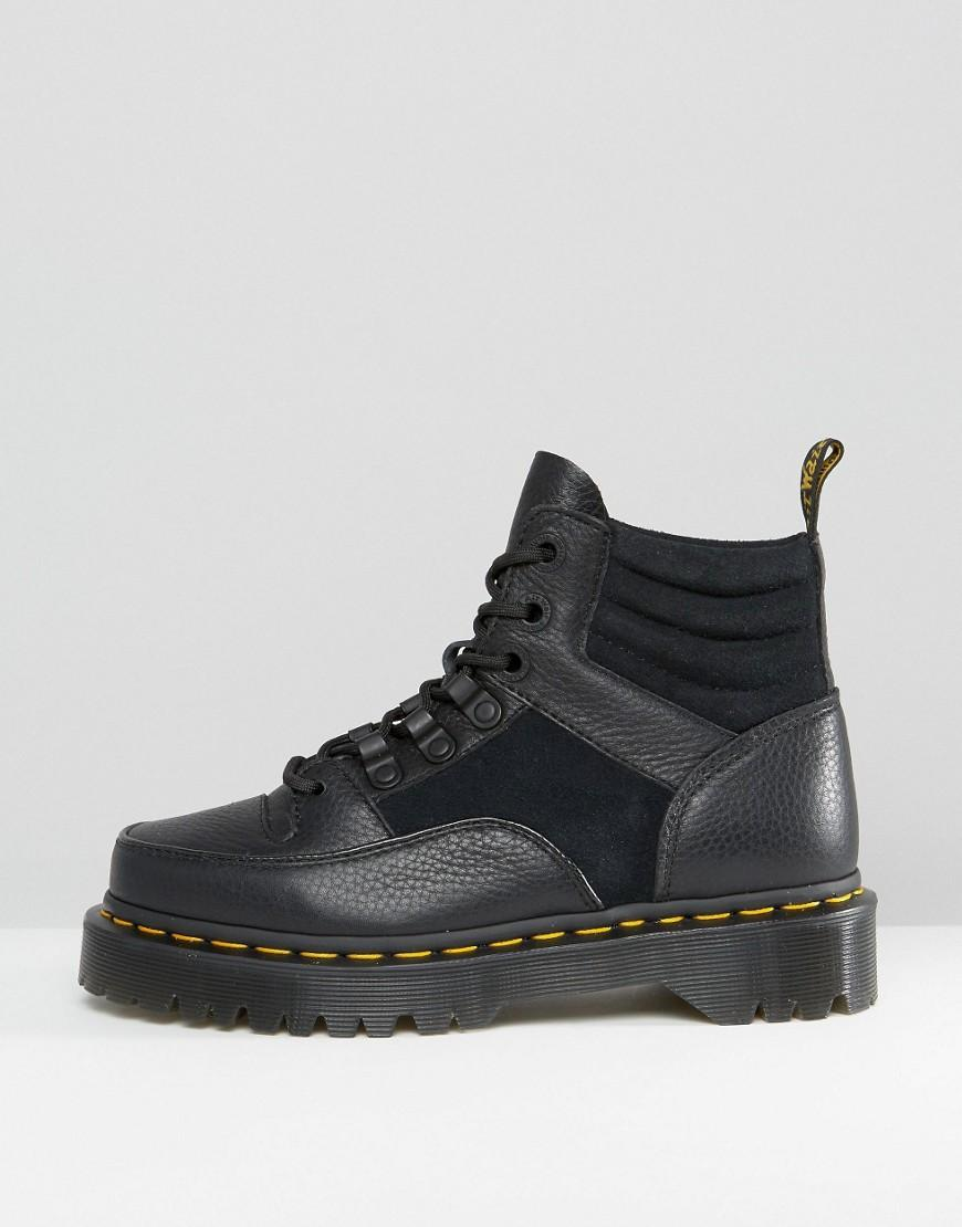 Dr Martens Leather Zuma Hiker Ankle Boots In Black Lyst