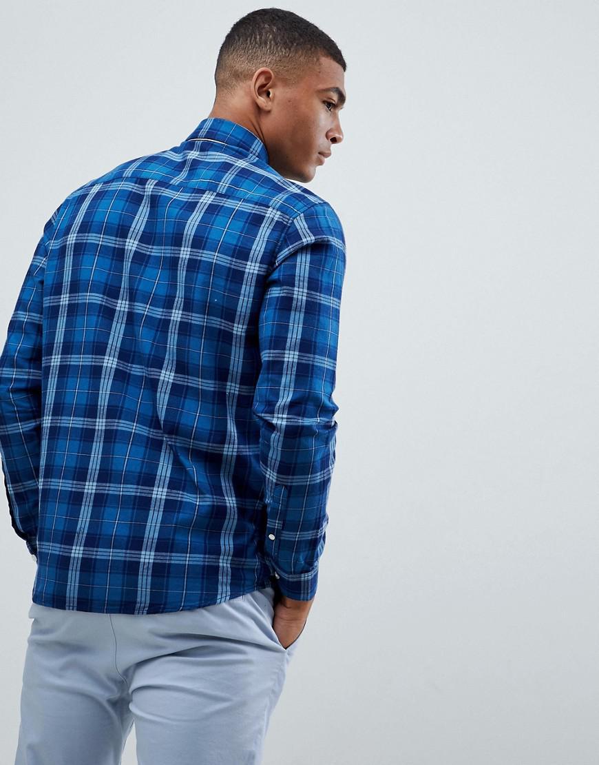 Jack & Jones Denim Geruit Overhemd in het Blauw voor heren