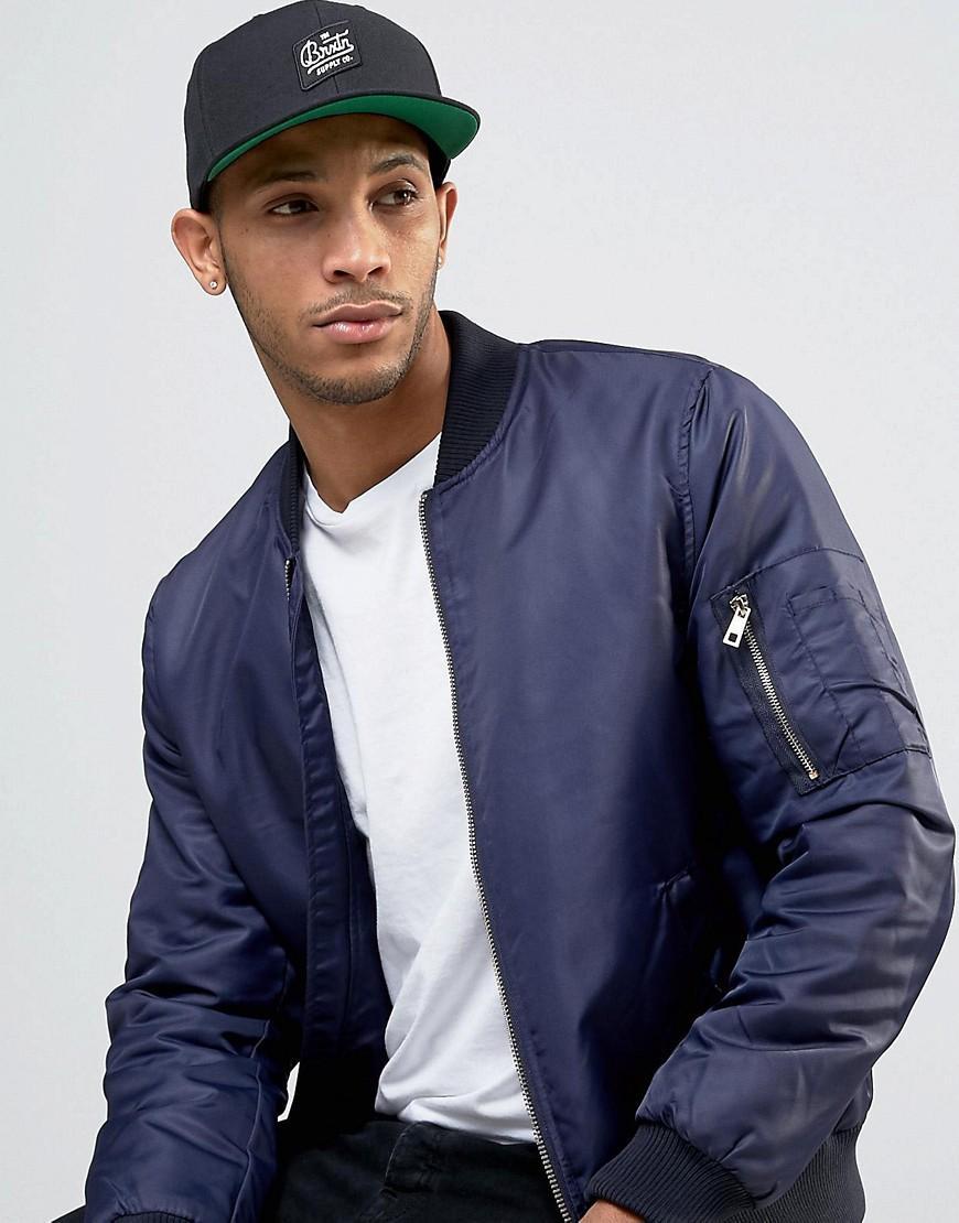 02ba356a15c2a Brixton Bedford Snapback Cap in Black for Men - Lyst