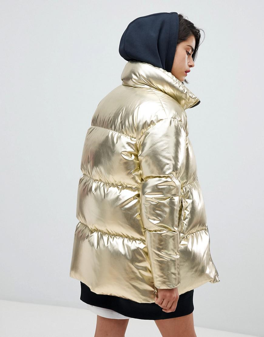 642f778d737 Tommy Hilfiger Tommy Icons Puffer Jacket in Metallic - Lyst