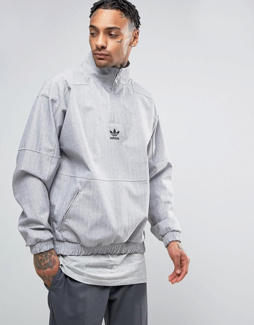 Lyst - adidas Originals Paris Pack 1 2 Zip Sweatshirt In Grey Bk0529 ... 3fbae98a1a5f