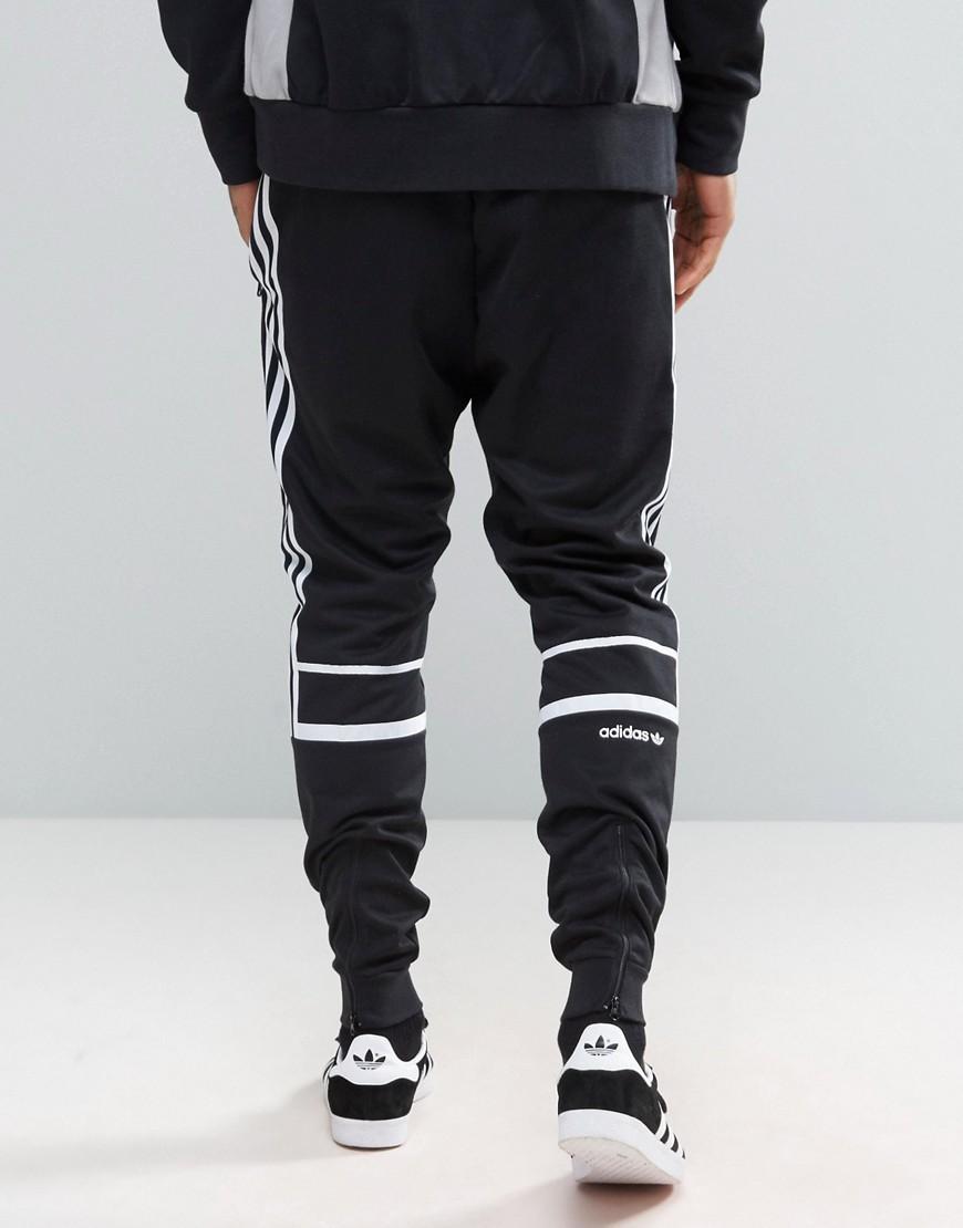 adidas originals slim sweatpants in black for men lyst. Black Bedroom Furniture Sets. Home Design Ideas