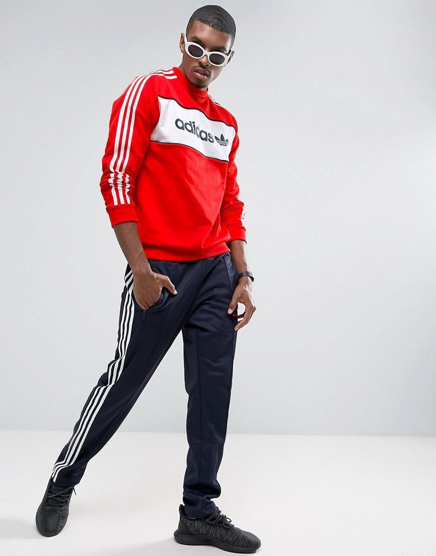adidas Originals Cotton London Pack Block Crewneck Sweatshirt In Red Bk7804 for Men