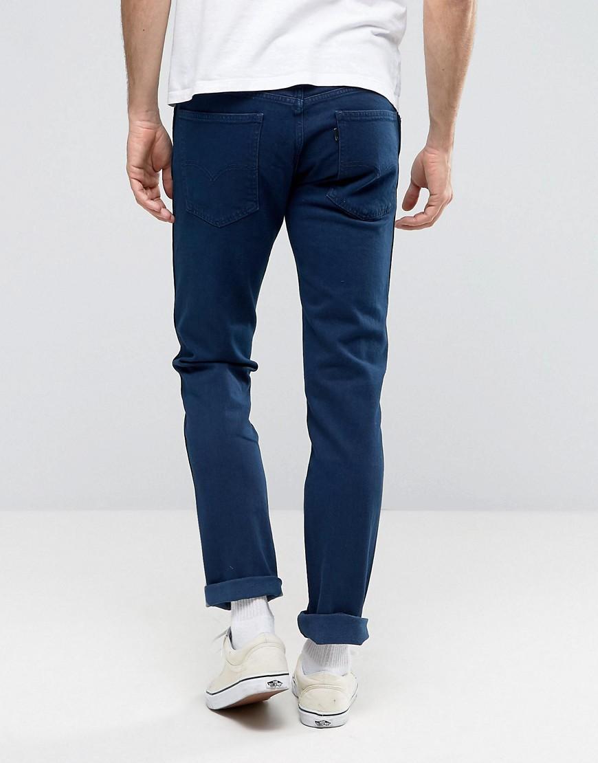 Levi's Denim Slim Jeans In Vibrant Blue for Men