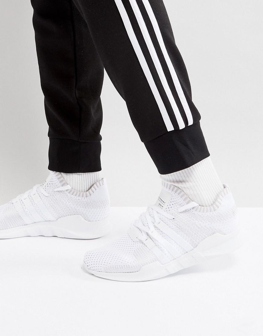 official photos f178b 0c7dc Lyst - adidas Originals Eqt Support Adv Primeknit Trainers In White ... adidas  originals