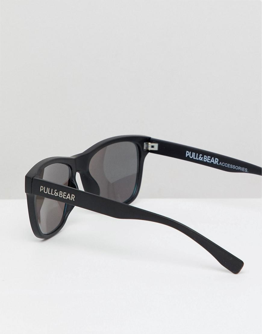 15ee508a27 Pull Bear Square Sunglasses In Black With Yellow Lenses in Black for ...