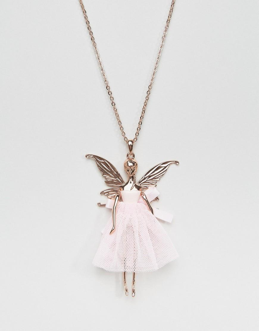 Ted Baker Synthetic Titania Fairy Ballerina Pendant Necklace in Pink
