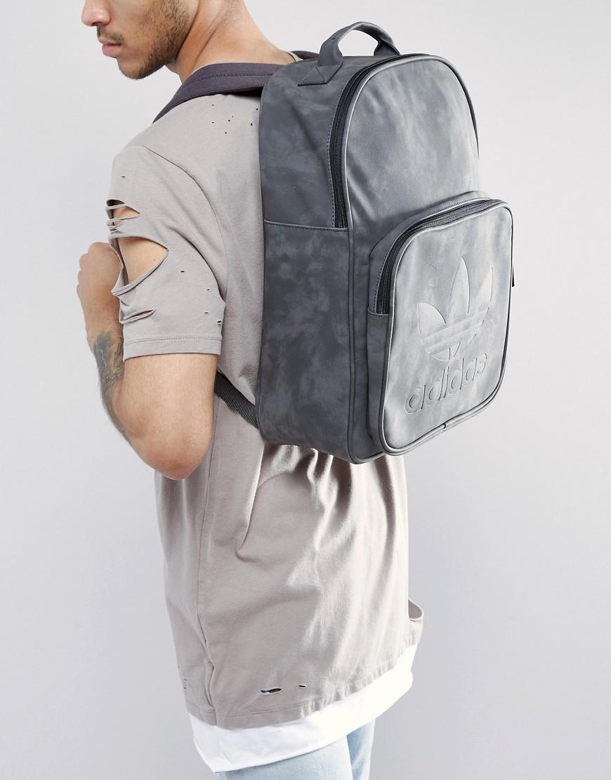 c79f2a01283cf adidas Originals Classic Backpack In Ash Bk7056 in Brown for Men - Lyst