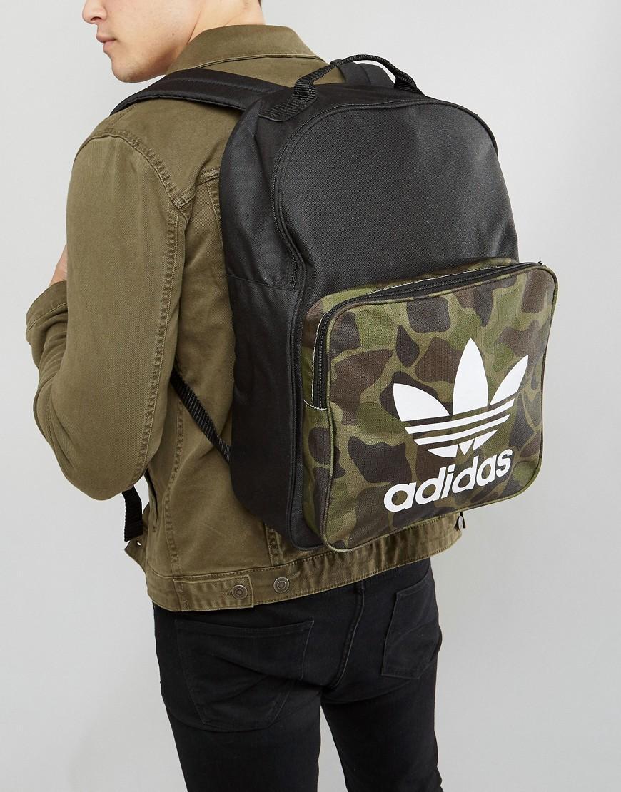 Lyst - adidas Originals Classic Backpack In Camo Bk7214 in Black for Men 111b42d95579e