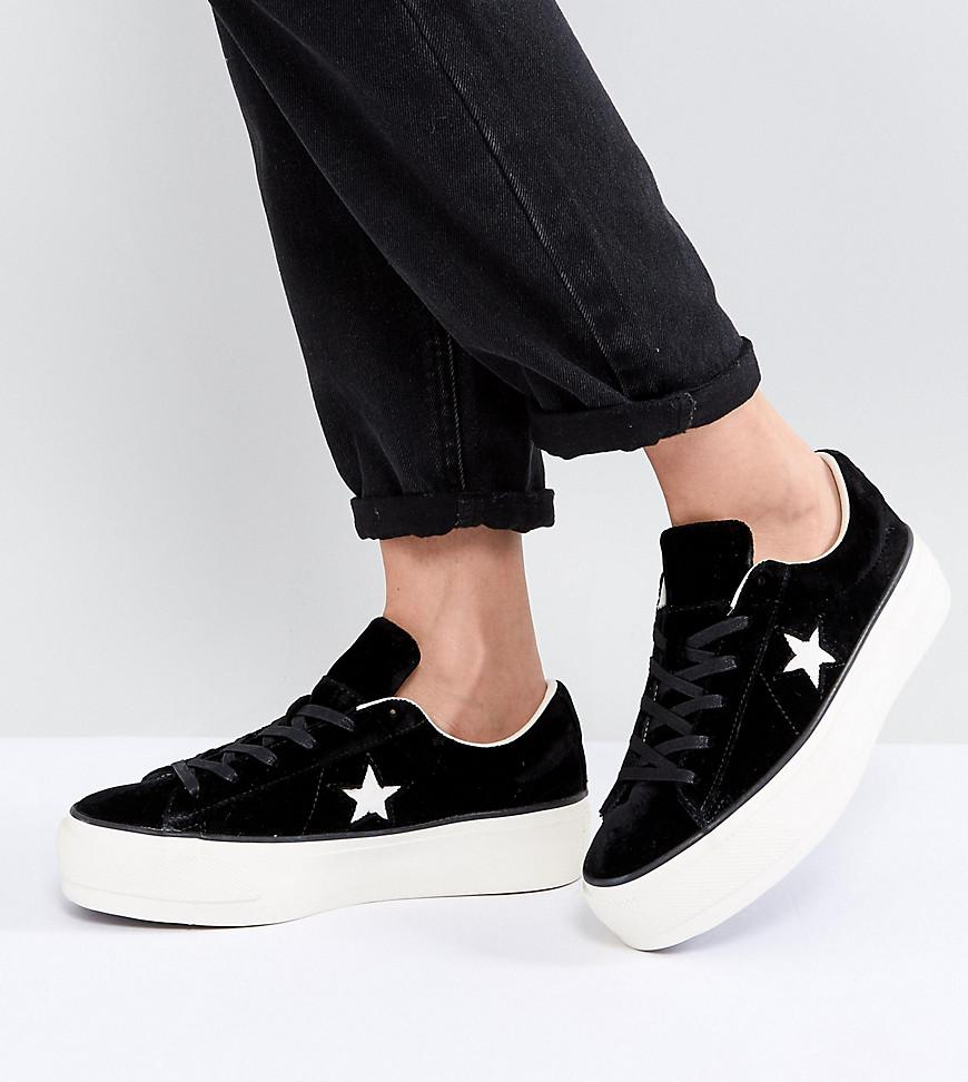 converse one star low platform