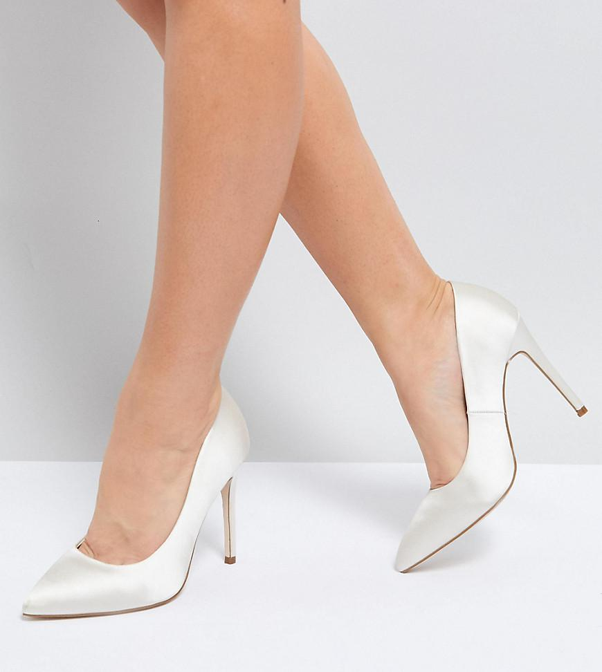 6982f916fb8 ASOS Asos Paris Wide Fit Pointed High Heeled Pumps In Ivory in ...
