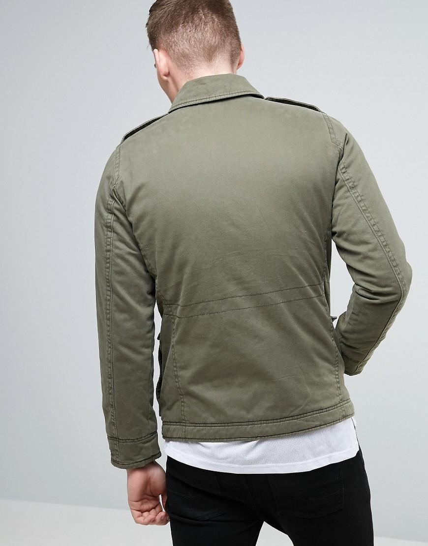 Hollister Cotton Military Twill Jacket M65 In Olive in Green for Men