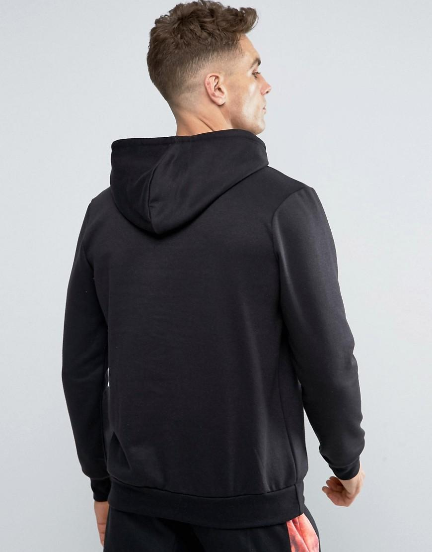 Hype Cotton Hoodie With Fire Logo in Black for Men