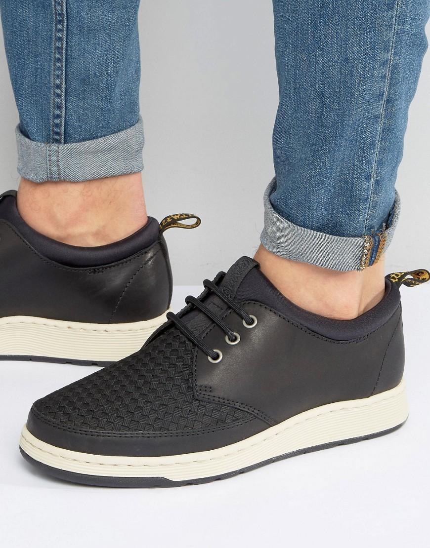 3e40dce49b3a7 Dr. Martens Black Solaris Woven 3 Eye Shoes for men