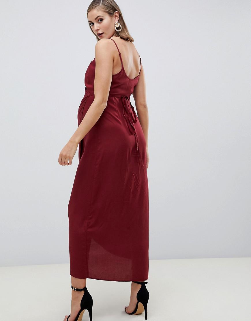 daeac5d7320 ASOS DESIGN Petite plisse tea dress - Blue - people.com