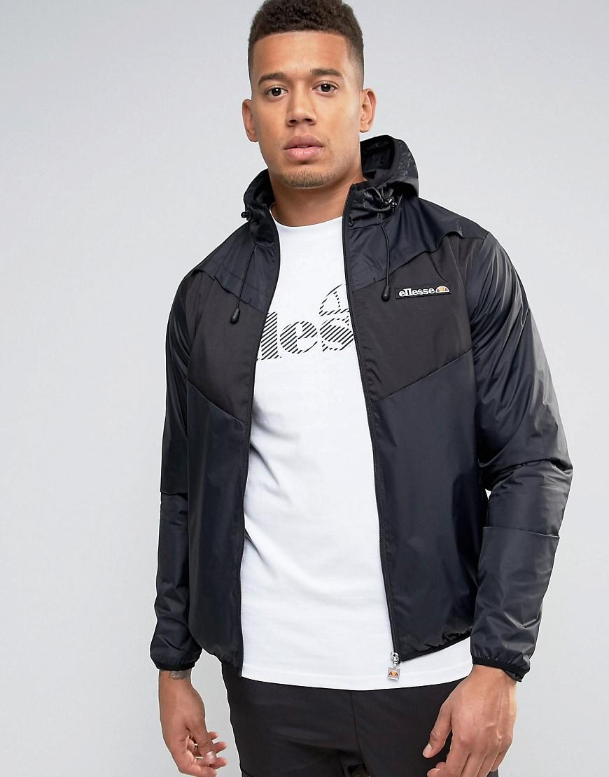 c5e3f1ee Ellesse Black Lightweight Jacket With Panelling for men
