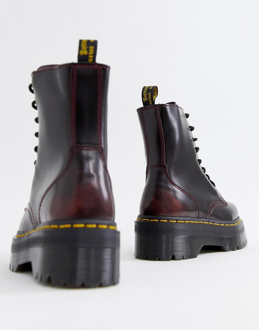 cf3e784b4e5d Dr. Martens Exclusive Cherry Jadon Boots in Red - Lyst