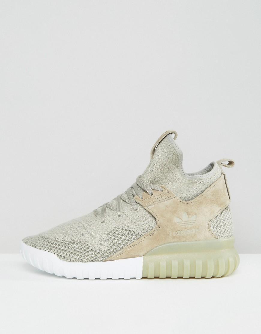 lyst adidas originali tubulare x pk scarpe in beige bb2381 in
