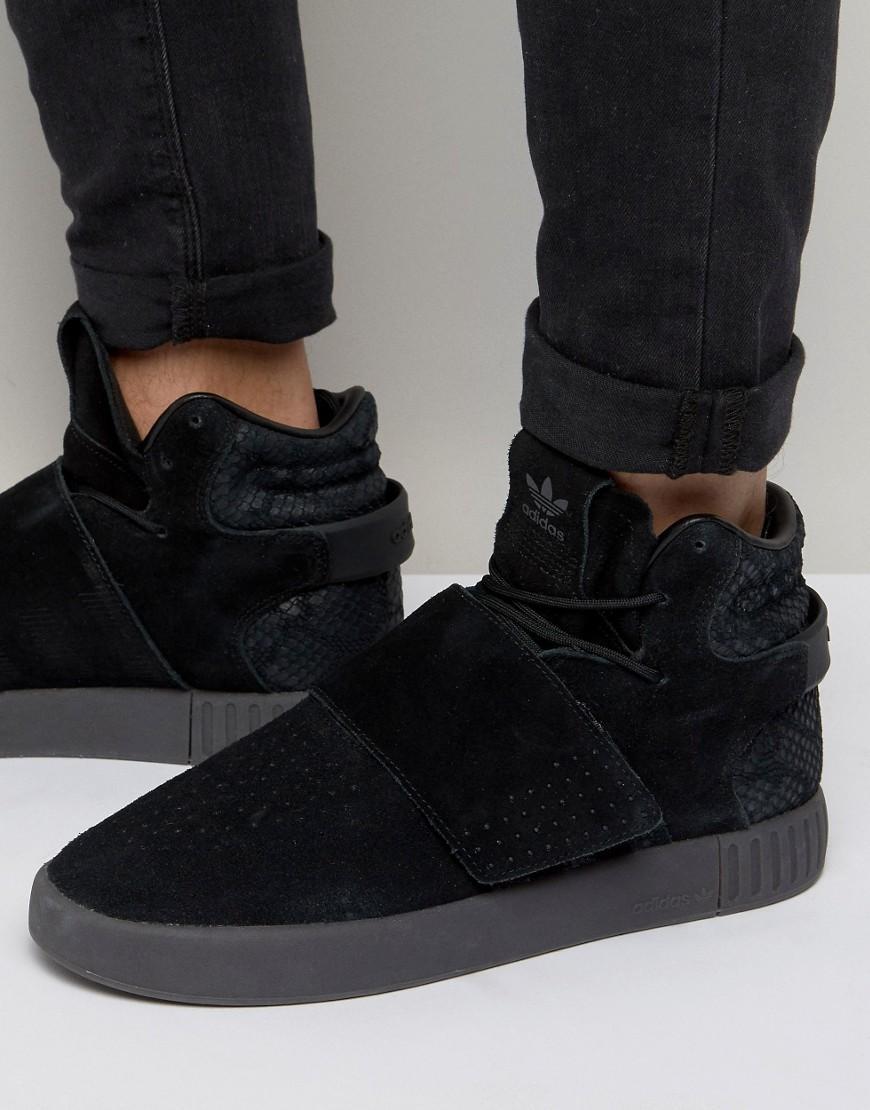adidas originals tubular invader sneaker high core black