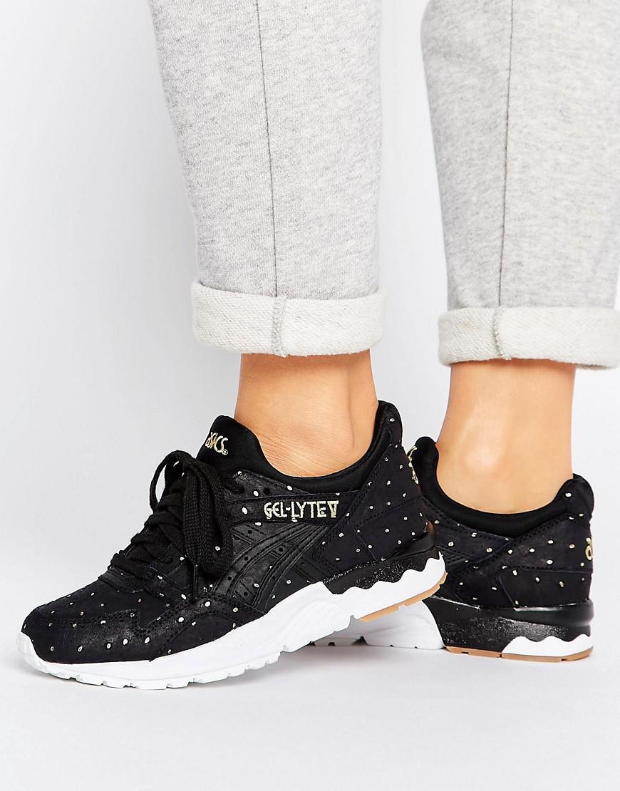 sale retailer 0da99 8888f Women's Suede Gel-lyte V Sneakers With Metallic Dots In Black