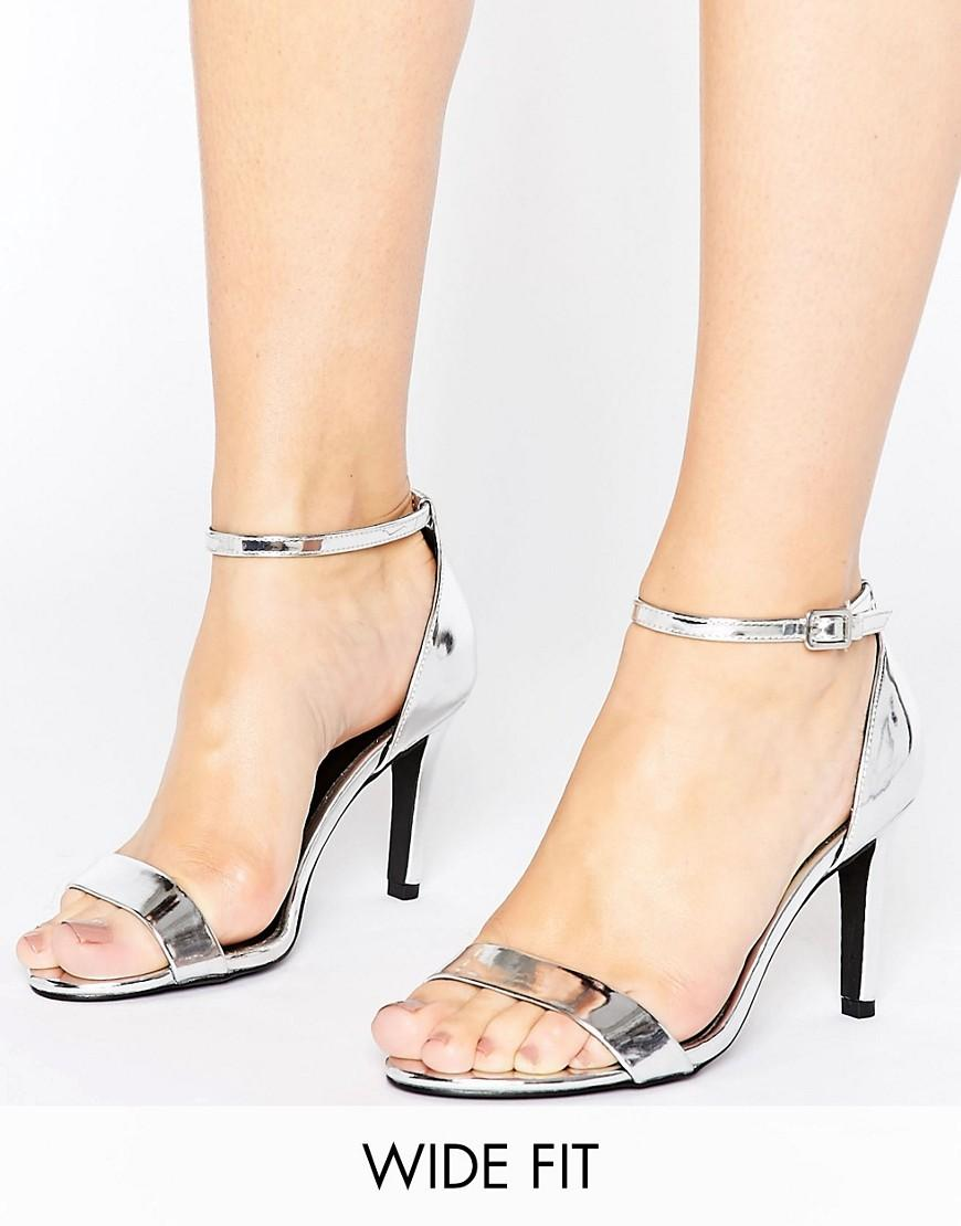 New Look Wide Fit Silver Shoes