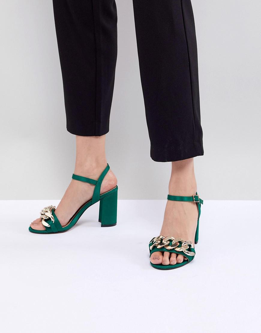 ASOS DESIGN Hawk Chain Block Heeled Sandals 72rPYREh7p