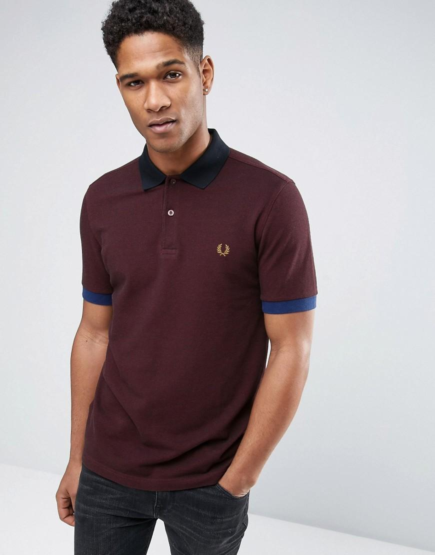 Lyst Fred Perry Slim Pique Polo Shirt Colour Block In