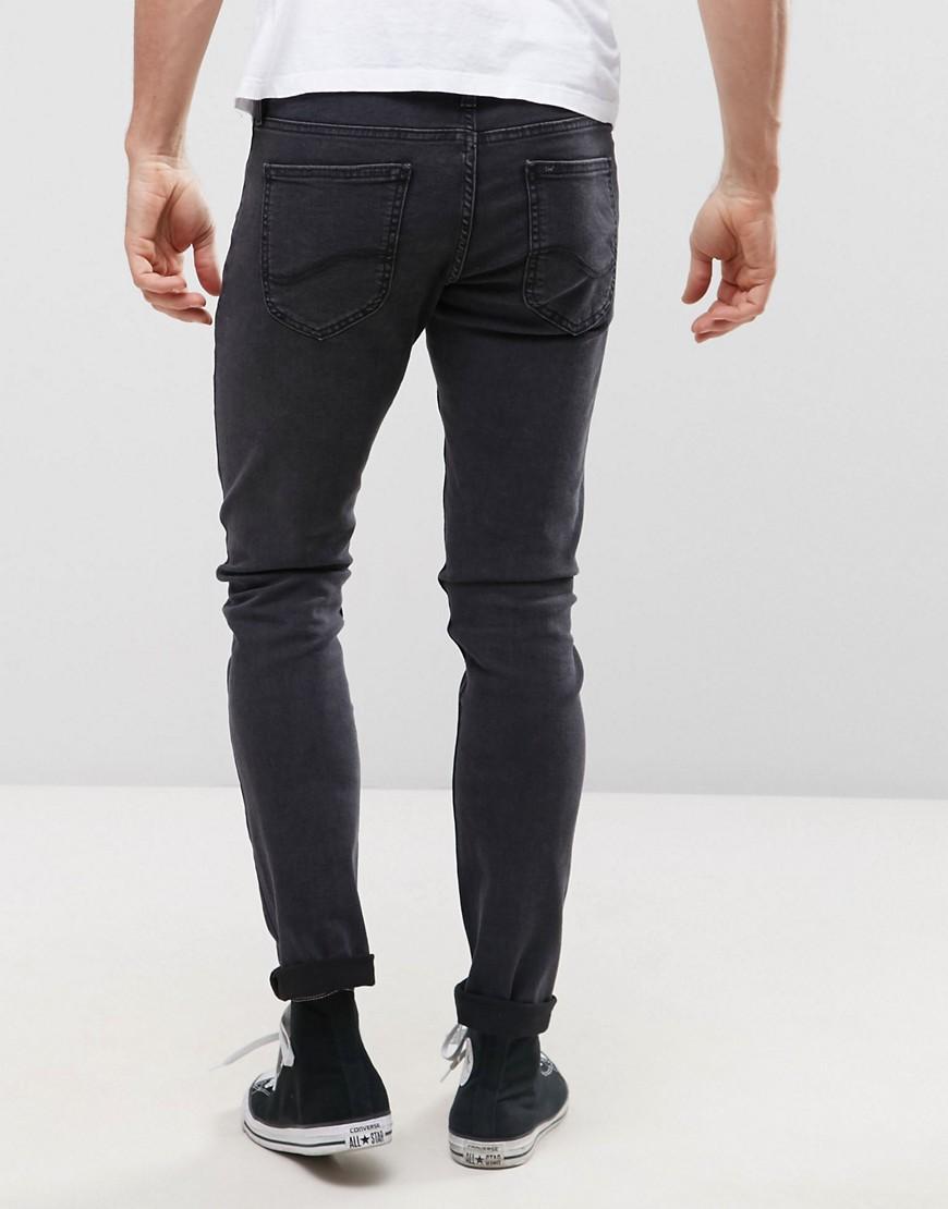 Lee Jeans Denim Malone Super Skinny Jeans Tailor Black Wash in Navy (Blue) for Men