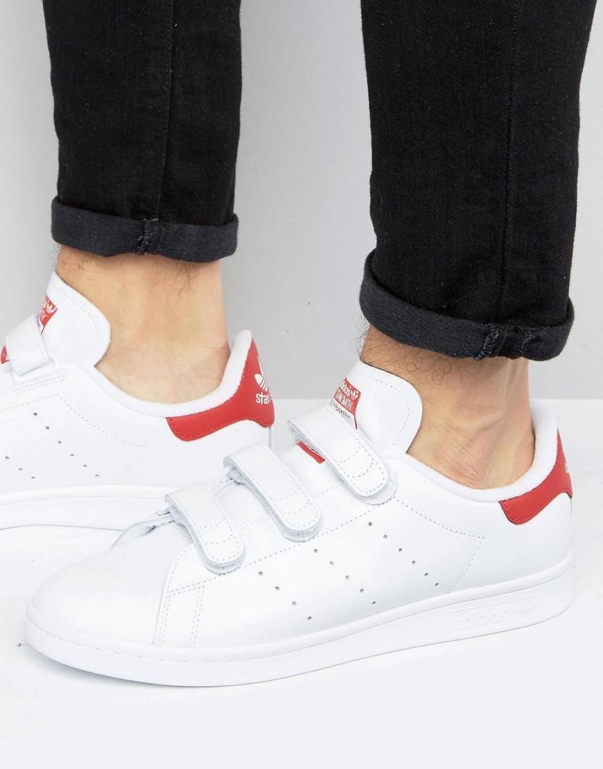 lyst adidas originals stan smith turnschuhe in weiß in weiß für männer