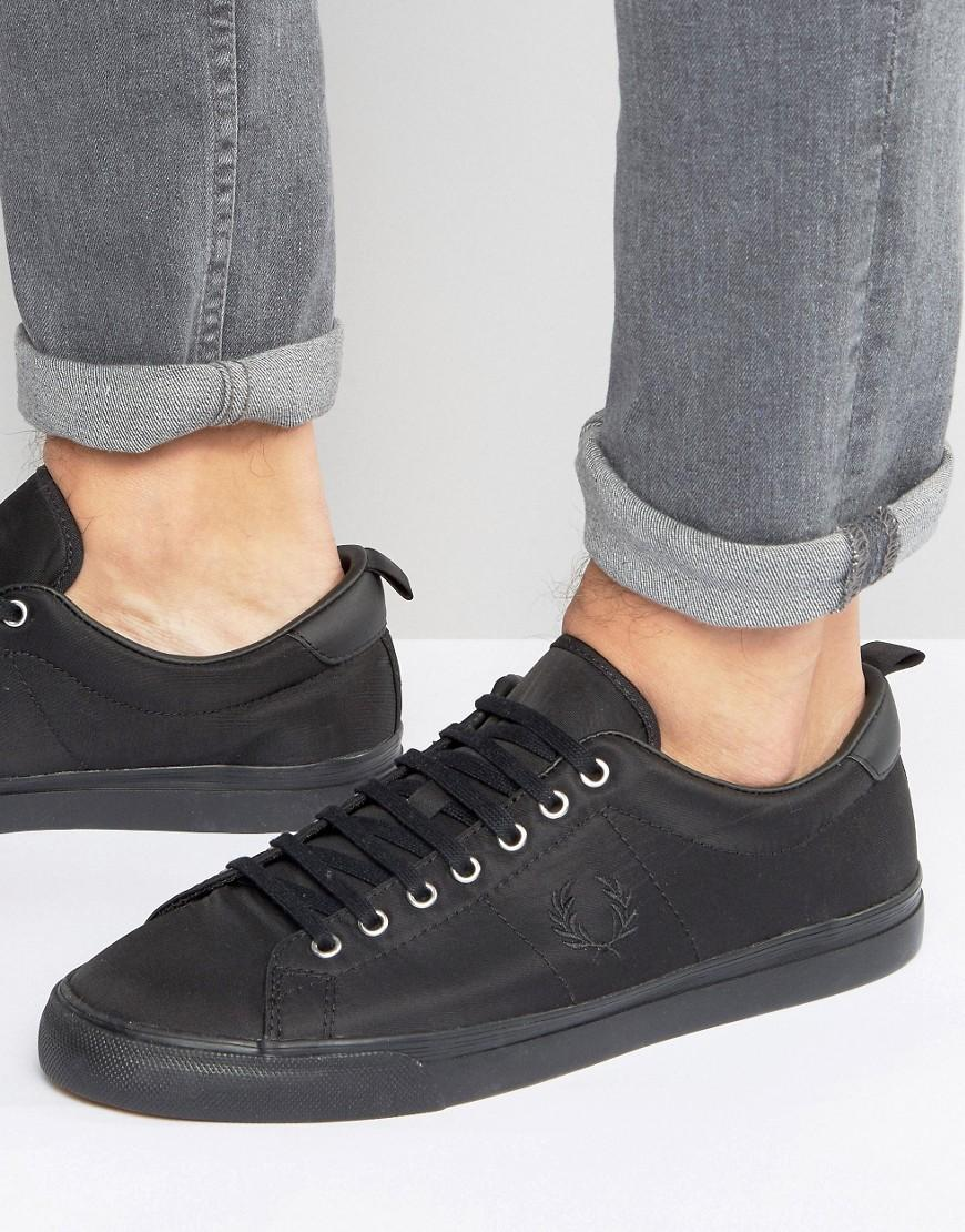 b6a40ef109915c Lyst - Fred Perry Underspin Nylon Trainers in Black for Men
