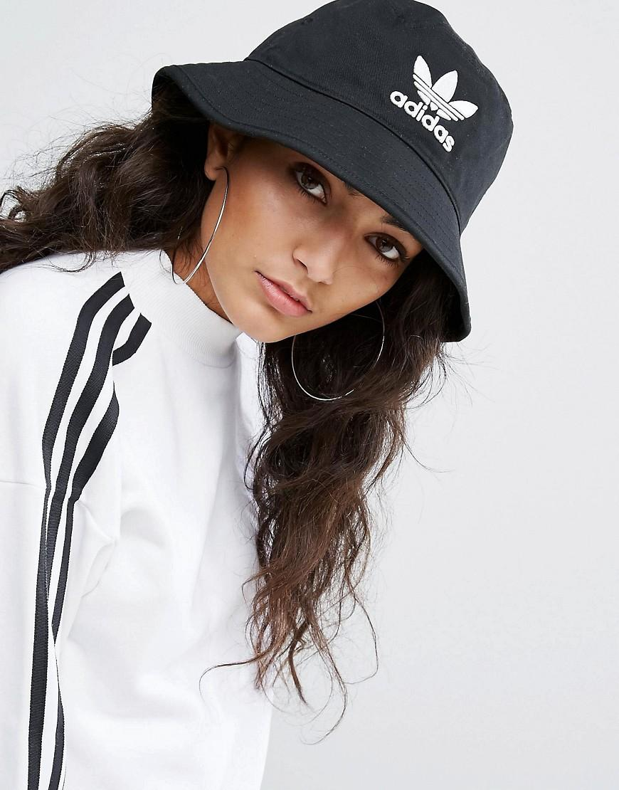 Adidas Originals Originals Logo Bucket Hat In Black in ...